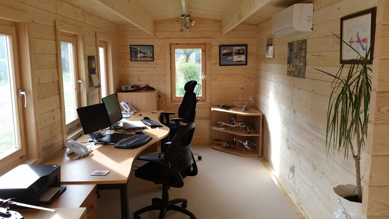 Home office cabin Wooden Creative Living Cabins Garden Room Ideas Home Office Hobby Room Quiet Safe Haven