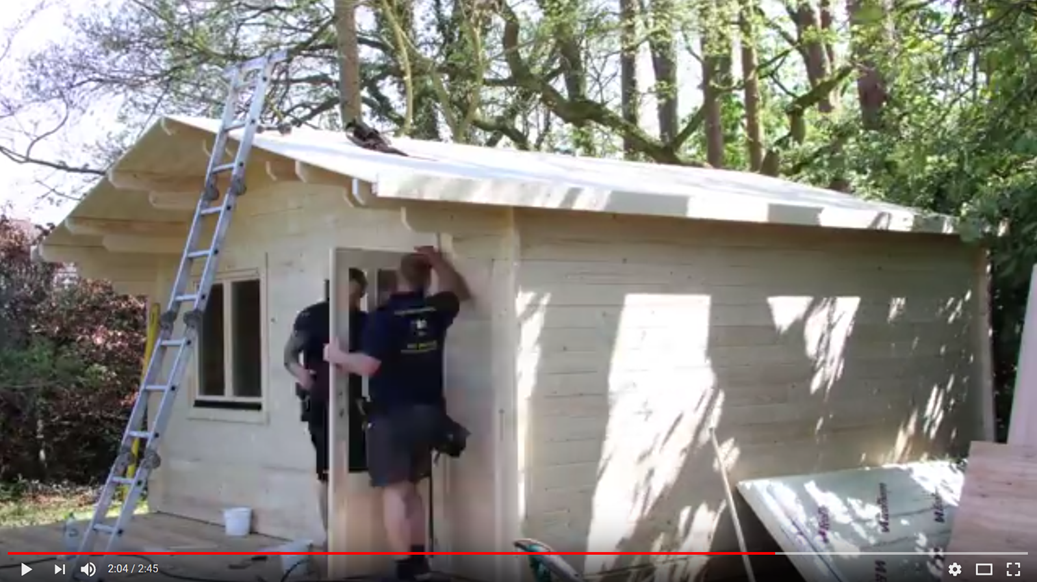 Hampshire Log Cabin being installed