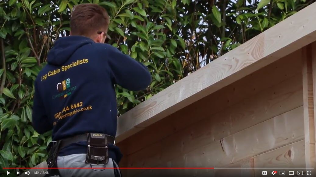 This video shows how a 'LONDON' Twin Skin Log Cabin, by Creative Living Cabins is installed