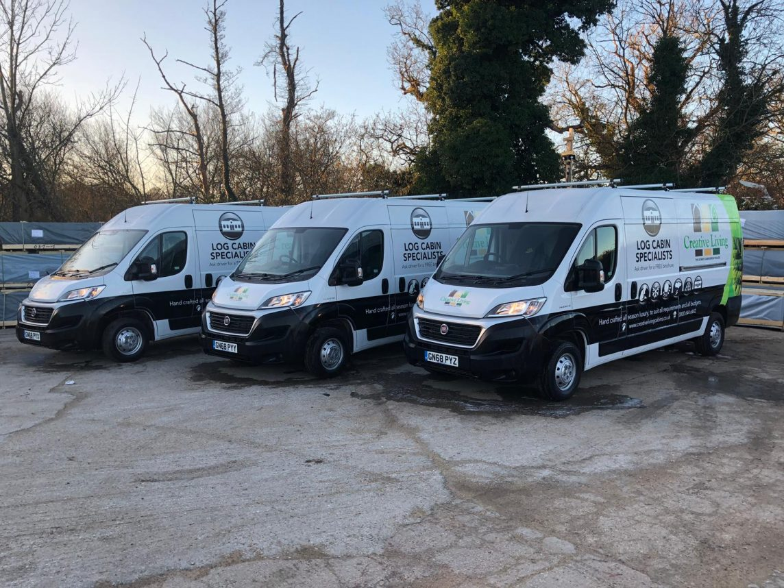 Creative Living Cabins - Take delivery of 3 beautifully liveried new vans