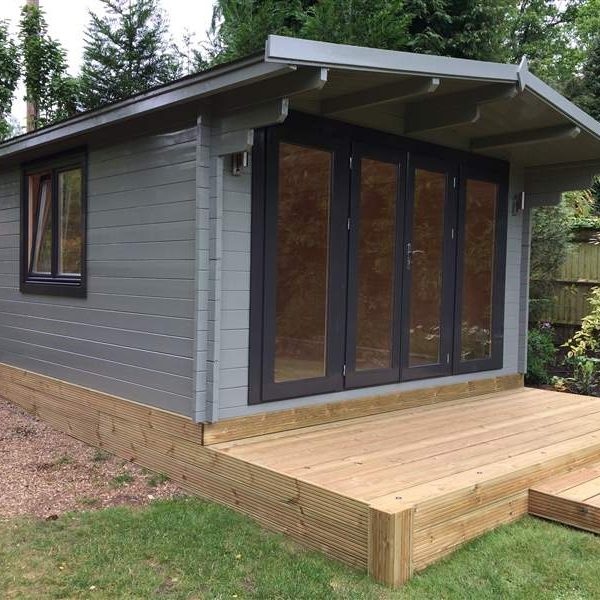 Sussex 4mx4m Cabin with lowered roof