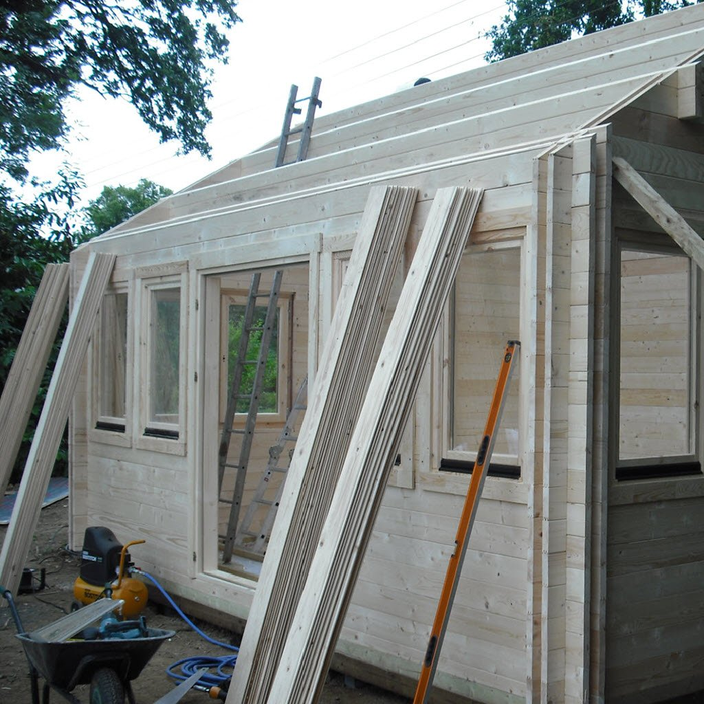 Design your own bespoke log cabin with the room sizes that you want.