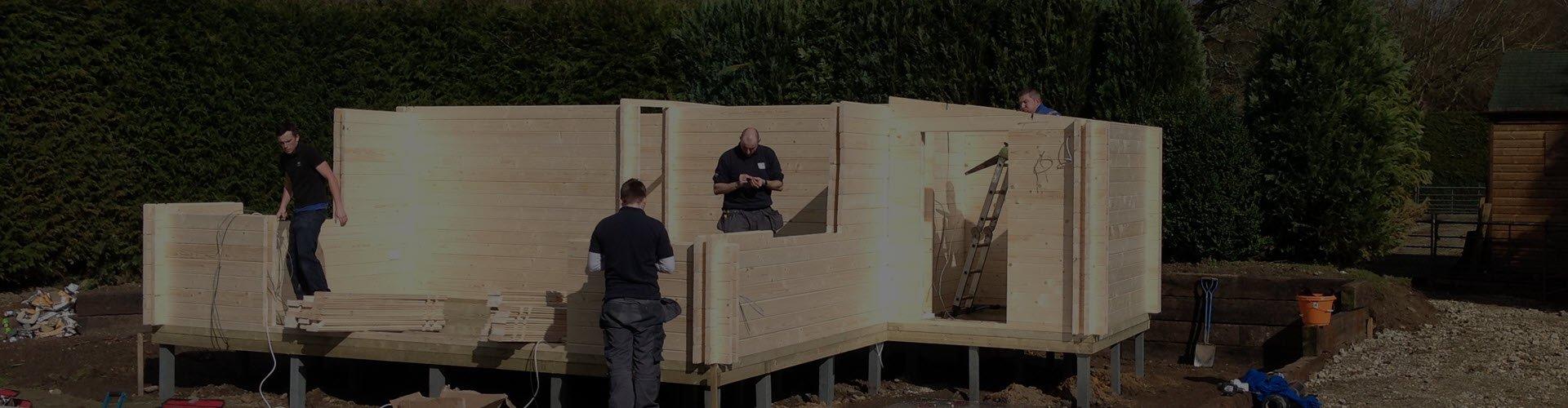 Log Cabin Installation and Basework