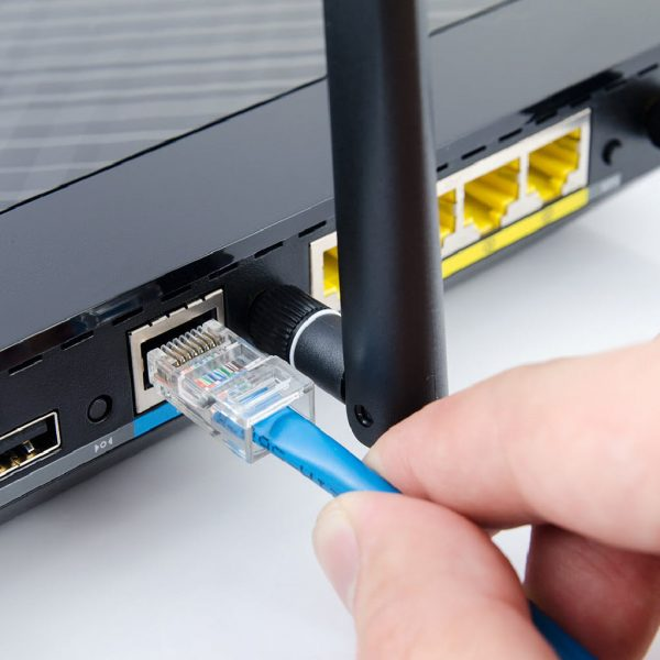 Log Cabin Wi-Fi installation - Hard wired internet CAT 6 cable from your house out to your new cabin