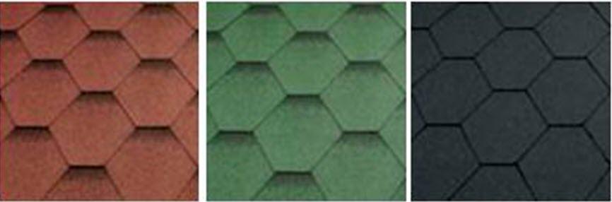 felt shingle roof colour options