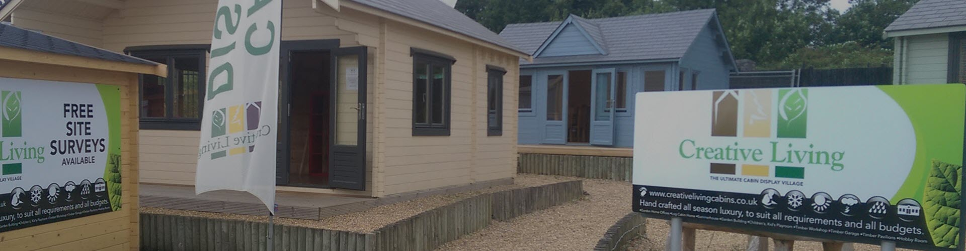 Creative Living Cabins - We Have Three Log Cabin Display Villages in Surrey
