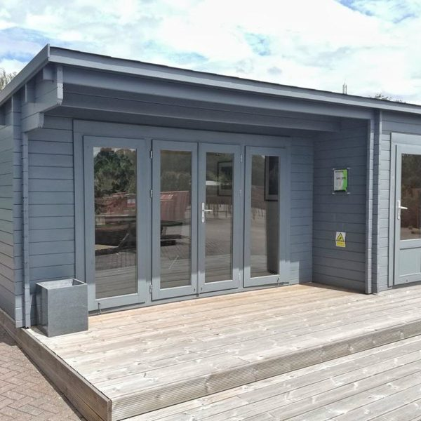 The 'Wiltshire' Log Cabin range, by Creative Living Cabins