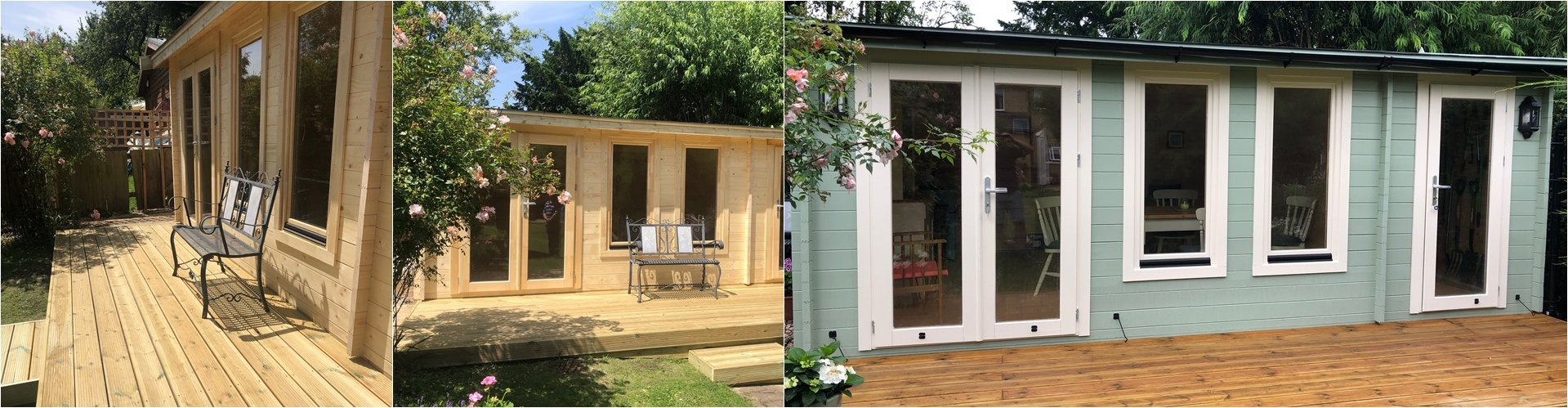 KENT log cabin with fully glazed doors 4