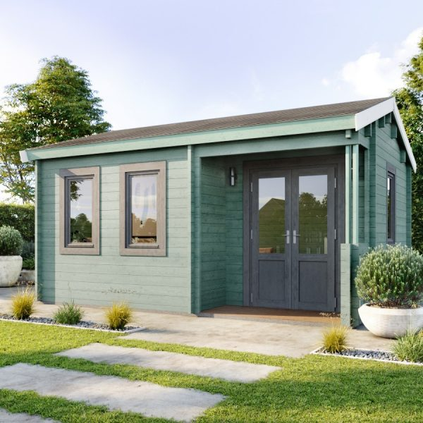 The Dorset Cabin seen here used as a Home Office