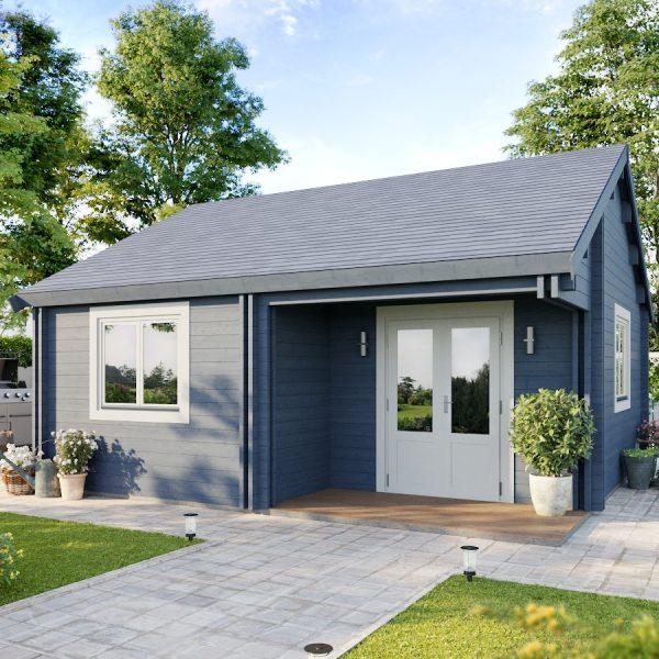 The Surrey cabin is a versatile 3 room cabin