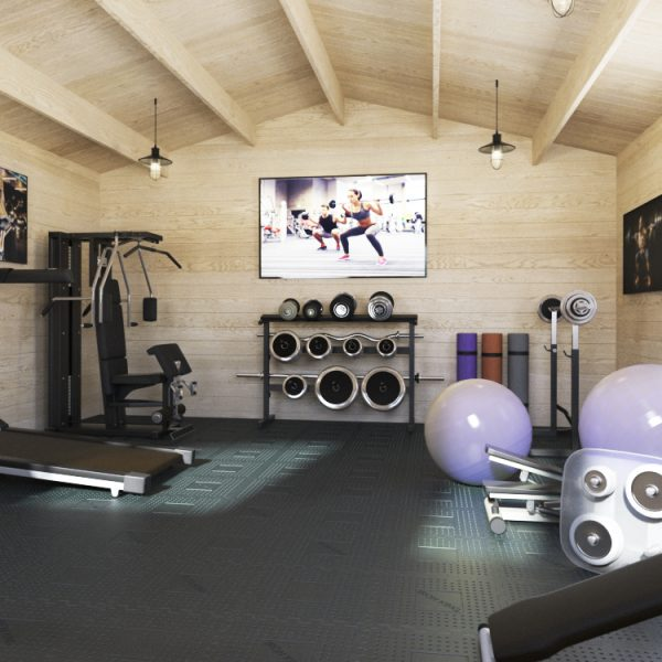 Hampshire cabin used a home gymnasium