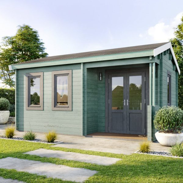 The Dorset Cabin seen here used as a Garden Office in London