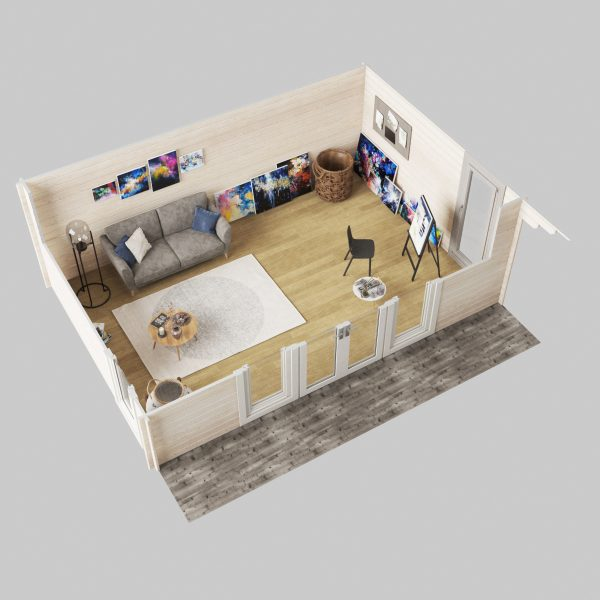 3D plan for Berkshire Cabin