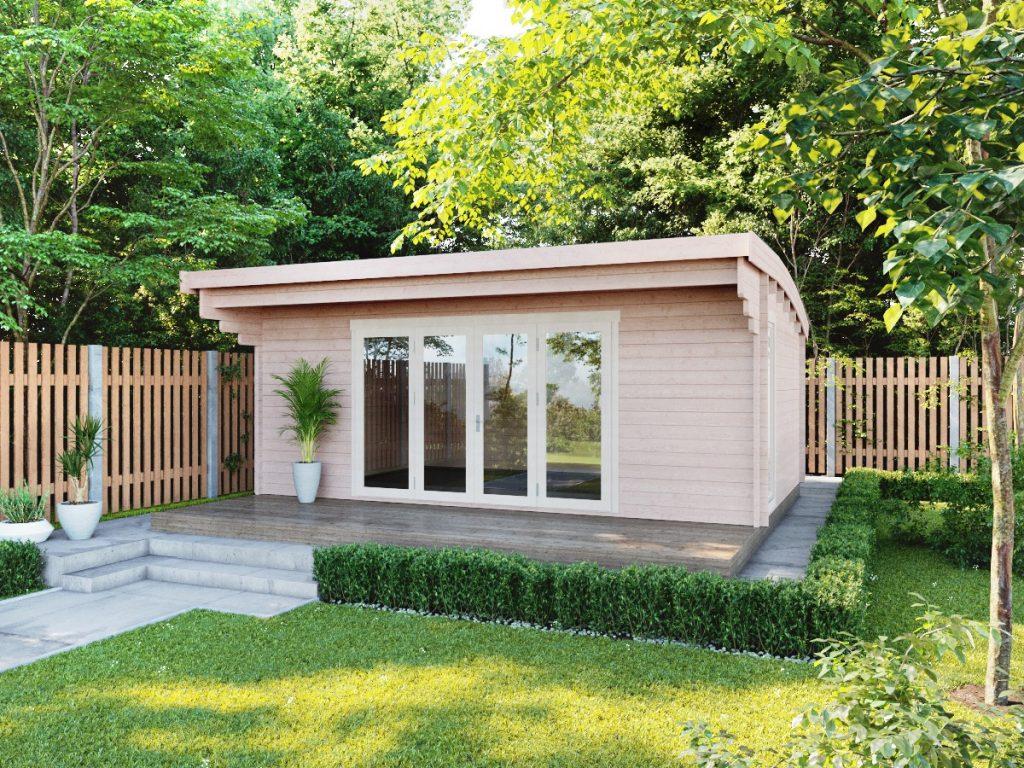 Berkshire cabin in garden setting