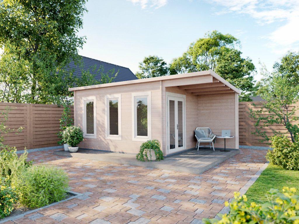 Cambridgeshire cabin in garden setting