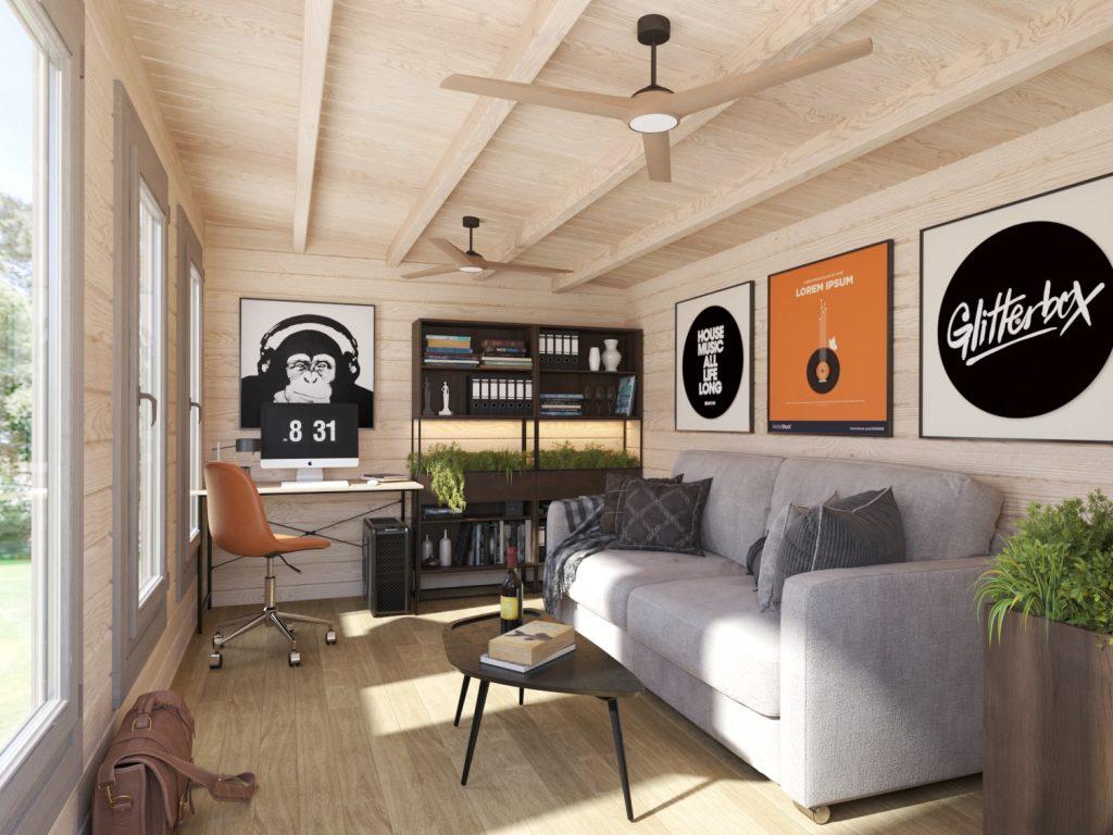 The Cambridgeshire cabin used as a creative studio