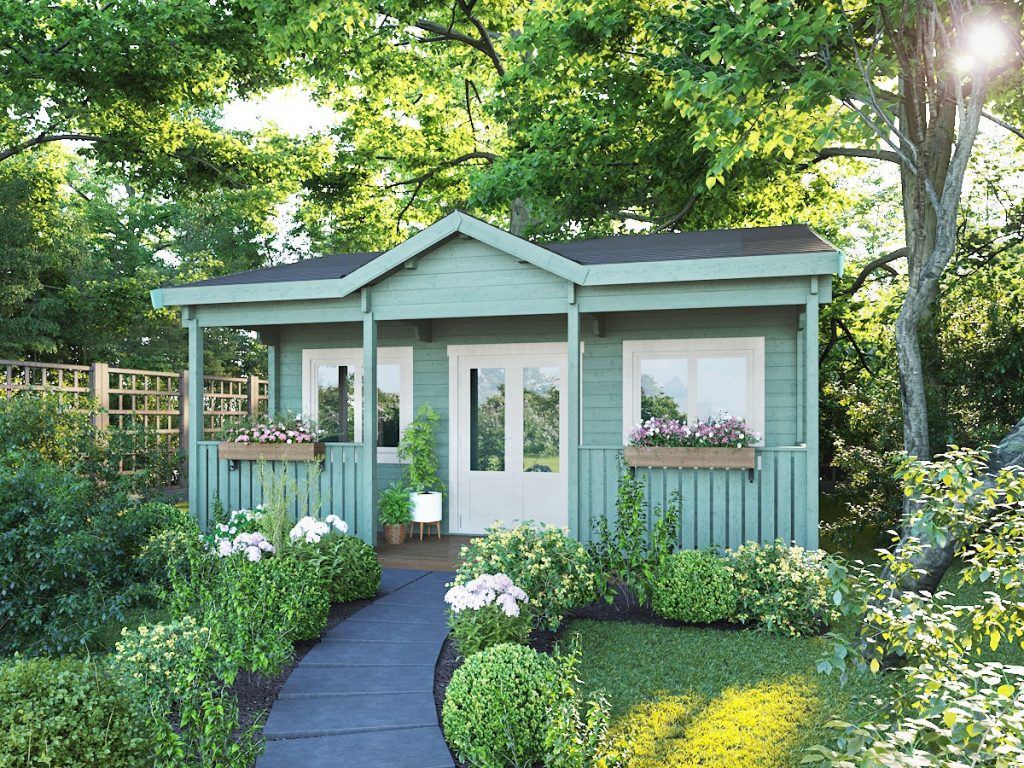 Cornwall cabin in garden setting