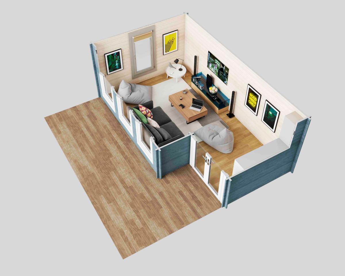 Somerset cabin - 3D