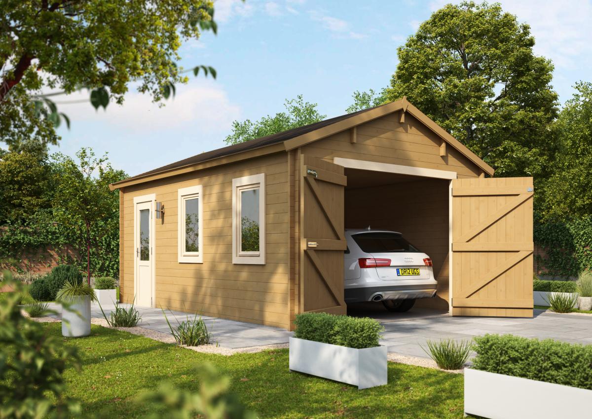 The 'Garage' Log Cabin.