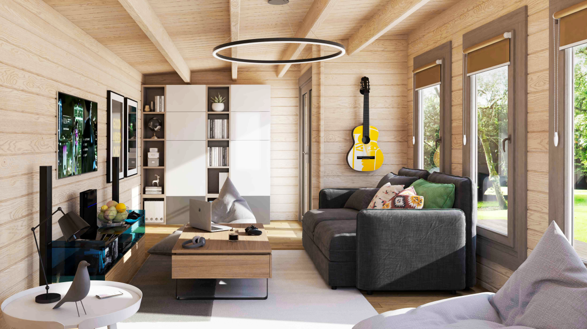 The 'Somerset' cabin - ideal for a music room or studio